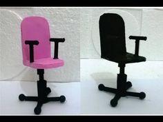 Como fazer Cadeira Giratória para Escritório da Barbie