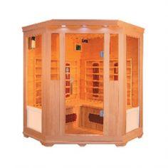 Aleko Canadian Hemlock Wood Indoor Dry Infrared Sauna with 2 Carbon Fiber and 6 Ceramic Heaters Best Infrared Sauna, Infrared Heater, Infrarot Sauna, Sauna Room, Trondheim, Canadian Spa, Canadian Hemlock, Indoor Sauna, Traditional Saunas