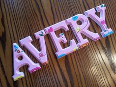 6 Inch Etched Sides Custom Hand Painted Wall Letters Personalized Baby Nursery Wall Name Decorative Wood Letters Priced per Letter by ScrunchyBean on Etsy