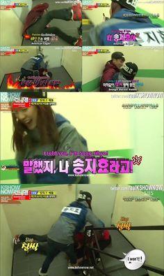 Song Ji Hyo I love her. She practically threw Seungri to the ground. You really should watch Running Man. Running Man Funny, Running Man Song, Running Man Korean, Ji Hyo Running Man, Korean Tv Shows, Korean Variety Shows, Runing Man, Boom Shakalaka, Kim Jong Kook