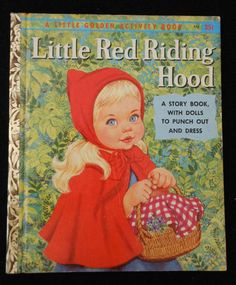 this is an oral silent book and this was a classic book for children my age to read Little Red Riding Hood Little Golden Book Old Children's Books, Vintage Children's Books, My Books, Pulp, Kids Story Books, Little Golden Books, Children's Literature, Classic Books, Red Riding Hood