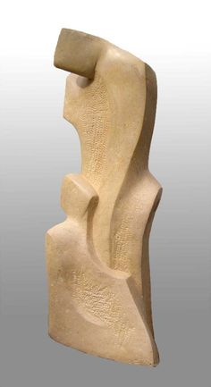 Interior sculpture entitled 'Romance' in Ancaster Stone. www.johnbrown-sculptor.co.uk