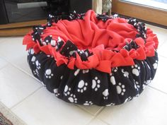 Comfy Fleece Doggy Bed available at Woofies (located in Trinkets & Treasures) in Washington, IL or call  309-444-5944  and we'll send you one in the colors of your choice.