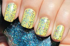 Nicole by OPI - A Million Sparkles Silver Pink Blue Bar Sequin Glitter Nail Polish