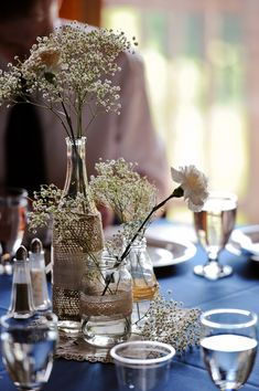 Burlap-Lace-Babys-Breath-Wedding-Centerpiece