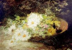 Nicolae Grigorescu - May Lillies Famous Artists, Great Artists, Daisy Painting, Impressionist Art, Art Database, High Art, Traditional Art, Flower Art, Art History