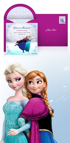 Planning a Frozen themed birthday party? Pick out your online invitations and make your guest list at Punchbowl. We make it easy to get your party started.  http://www.punchbowl.com/disney/express/?utm_source=Pinterest&utm_medium=1.20P