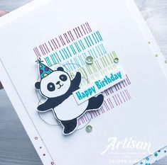 Crafty Little Peach: Party Panda Eclectic Expressions Birthday Card