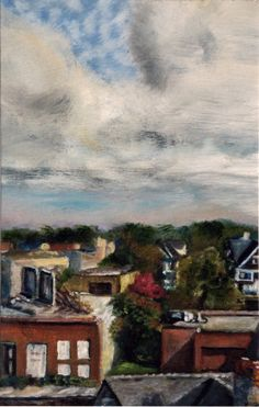 """View from my studio window, North Rochester,"" by Carol L. Douglas"