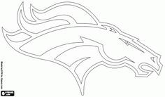 Denver Broncos logo, american football team in the AFC Western Division, Denver, Colorado coloring page