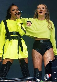 Little Mix Promo ( Komplette Outfits, Stage Outfits, Casual Outfits, Fashion Outfits, Neon Rave Outfits, Ropa Color Neon, Street One Pullover, Little Mix Outfits, Little Mix Girls