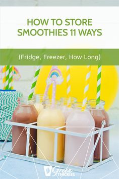 Here's exactly how to store smoothies correctly, where, for how long and in what containers. You can choose the fridge, freezer or more portable options. Protein Fruit Smoothie, Raw Vegan Smoothie, Smoothie Popsicles, Smoothie Diet Plans, Smoothie Prep, Fruit Smoothie Recipes, Smoothie Ingredients, Freezing Smoothies, Make Ahead Smoothies