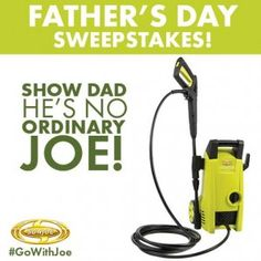 TODAY ONLY, enter to win an electric pressure washer!