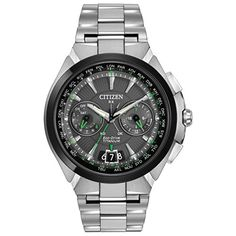 Men's Wrist Watches - Citizen Mens CC108463E Satellite Wave Analog Display Japanese Quartz Silver Watch >>> You can get additional details at the image link. (This is an Amazon affiliate link)