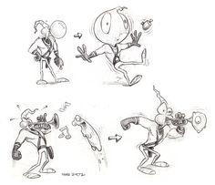 Original Earthworm Jim Concept Art - Mike Dietz