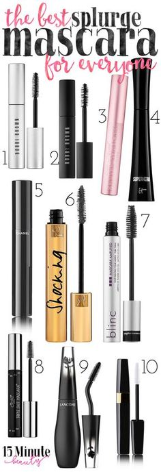 My Favorite Splurge Mascaras: The best for volume, length, no smudging and waterproof formulas!