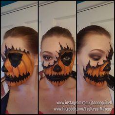 Halloween Ripped Skin Pumpkin Makeup I Absolutely Love This on Beautiful Makeup Photos 602 Halloween Makup, Amazing Halloween Makeup, Halloween Fun, Pumpkin Face Paint, Pumpkin Faces, Cosplay Makeup, Costume Makeup, Fall Eyeshadow Palette, Creepy Pumpkin
