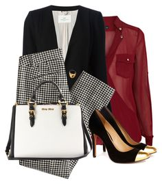 Work outfit #1 by blackqueen123 on Polyvore featuring мода, Oasis, DAY Birger et Mikkelsen, Sole Society, Miu Miu, Fendi, women's clothing, women's fashion, women and female