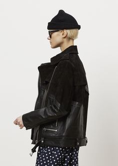 Acne Studios Heather Leather Jacket (Black)