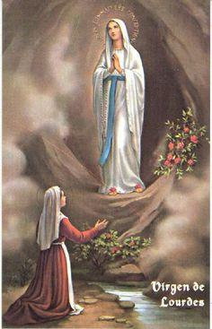 Virgen de Lourdes Las oraciones a esta Virgen son para obtener salud y salvarse de peligros.  A mi me protegió en un accidente.
