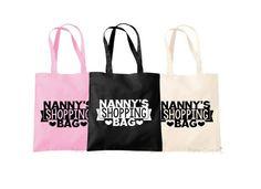 Nanny Shopping Bag Nanny Bag Nanny Shopping Tote by TheHenCompany