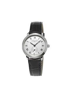 Frederique Constant Mujer  Slim Line  acero inoxidable y vestido de piel  reloj de cuarzo suizo 90a63dd138f4