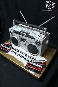 BOOM BOX CAKE! I love everything..especially the swearing...