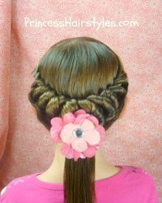 Spiral twist hairstyle tutorial