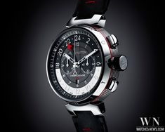 LOUIS VUITTON - Tambour Graphite Chronographe GMT | Watches-News