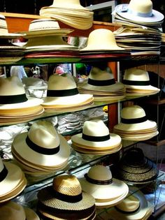 Panama Hats: A Panama photo gallery wouldn't be complete without a collection of Panama hats, for sale all over Panama City. Technically, Panama hats are Ecuadorian in origin, but they were popularized in Panama during the construction of the Panama Canal.