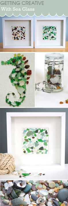 Got a collection of sea glass but don't know what to do with it? Try some of these ideas, simple and easy to do. Brought to you by Ceative in Chicago