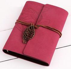 Notitieboek Bladeren Rood