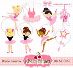 Little Ballet Dancer digital clipart-Personal and Commercial Use - paper crafts, card making, scrapbooking