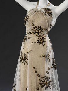 1937-1939 Evening Dress by Madeleine Vionnet, via The Victoria & Albert Museum.