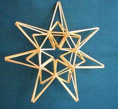 Suvikumpu: Olkitähti how to Scandinavian Christmas, Christmas Crafts, Christmas Ornaments, Christmas Ideas, Christmas 2015, Craft Stick Crafts, Diy And Crafts, December Holidays, Stars Craft