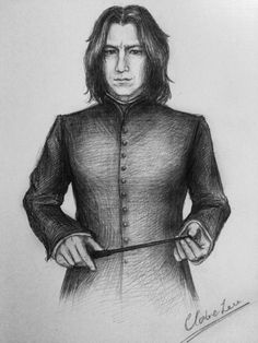 Art by One day I'll be able to draw Severus in my own style… (maybe he'll still look a little bit like Alan Rickman) Harry Potter Portraits, Harry Potter Artwork, Images Harry Potter, Harry Potter Drawings, Harry Potter World, Professor Severus Snape, Harry Potter Severus Snape, Alan Rickman Severus Snape, Severus Rogue