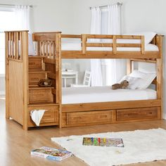 Have to have it. Stairway II Twin over Twin Bunk Bed with Stairs   2 Free Mattresses! $899.99