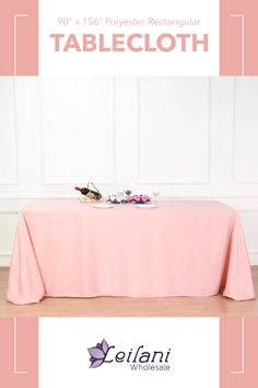 Created from high-quality polyester fabric, this tablecloth will be the simple and practical addition to your wedding, parties or event decorations.  #tablecloths #tablesettings Banquet Tables, Wedding Parties, Dining Decor, Tablecloths, Dusty Rose, Event Decor, Party Supplies, Table Settings, Wedding Decorations