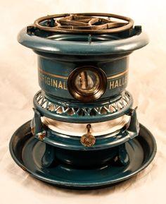 Dutch ORIGINAL HALLER Enamelware Stove Kerosene Fuel burner petrol blue Enamel #Haller