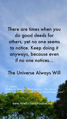 The Universe Will Notice  #lawofattraction #loa #quotes #inspiration