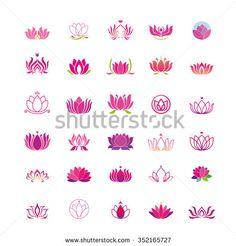 lotus flower logo - stock vector