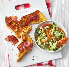 Rezept: French-Toast mit Zucchini-Tomaten-Salat