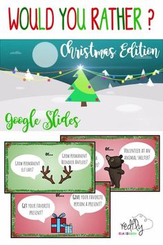 Christmas Party Activities, Christmas Trivia, Christmas Games For Family, Holiday Games, Holiday Fun, Christmas Holidays, Google Christmas, Would You Rather Kids, Christmas Questions