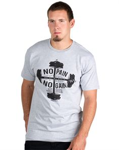 No pain, no gain is a statement often used by athletes. But it can also be applied to your spiritual well-being. Just like you lift heavy weights to achieve physical strength, God uses heavy trials to strengthen your spiritual life.  Material: 90�0cotton and 10�0polyester Fit:  Standard  Wash Instructions:  Machine wash cold inside out with similar colors, tumble dry low remove promptly, do not iron print, do not bleach  Printed in: USA  Produced in: Mexico - Fair Labor Policy