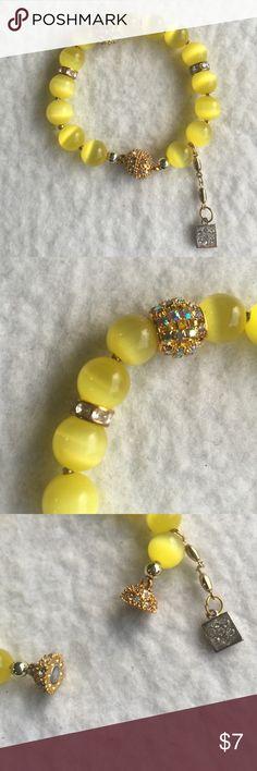Handmade bracelet Handmade beautiful yellow bracelet with magnetic luck Jewelry Bracelets
