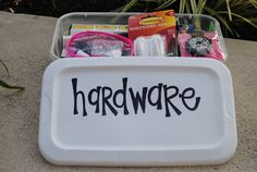 "College Care ""Boxes"" - cute and practical gift idea for a college bound student"