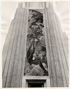 """""""The Winds"""" Mural, Golden Gate International Exposition, San Francisco, California Historic 1939 Photo, San Francisco Historical Photograph Collection Mural set into the fair's huge Deco-Classical. Architecture Tumblr, Interior Architecture, Modern Photography, Image Photography, World Of Tomorrow, San Francisco California, Art Deco Era, World's Fair, Treasure Island"""
