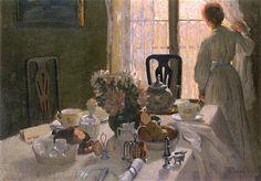 Emanuel Phillips Fox, The Breakfast Table, 1907
