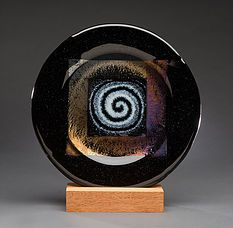 Fused Glass artist Randie Silverstein. One-of-a-kind panels, plates, bowls, platters and trays. All artwork is handcrafted in my Santa Cruz CA studio.