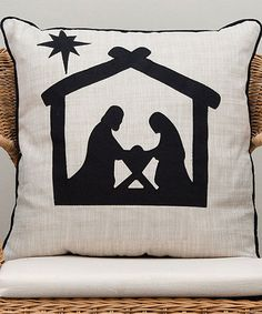 Another great find on #zulily! Nativity Silhouette Throw Pillow #zulilyfinds